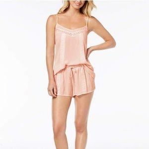 NWOT Day Dream Pink Lace Trim Pajama Set